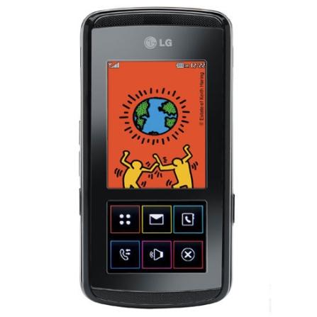 Celular GSM KF600 Preto Com Câmera de 3 MP / MP3 player / Bluetooth - LG + Chip Vivo Pré-Pago (DDD11)