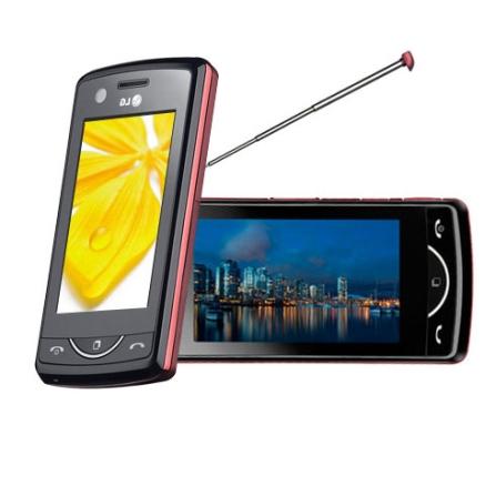 Celular Scarlet Vermelho e Preto com TV Digital LG