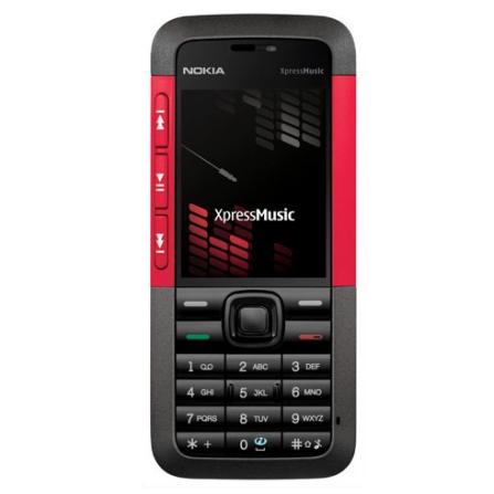 Celular N5310 XpressMusic Preto e Vermelho com Câmera 2.0MP / MP3 Player / Bluetooth / Cartão de 2GB - Nokia + Chip Vivo