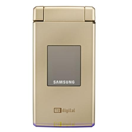 Celular V820 Dourado com Tecnologia 3G e GSM / Sintonizador de TV Digital / Câmera 2.0 MP / Display Giratório / MP3 Play