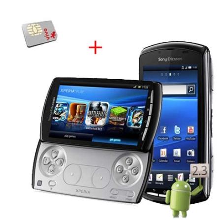 Smartphone Sony Ericsson Xperia Play + Chip Vivo