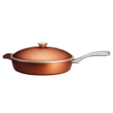 Frigideira com 26cm em Alumínio Forjado / Antiaderente Starflon / Dourada - Lyon Tramontina - 20970_426