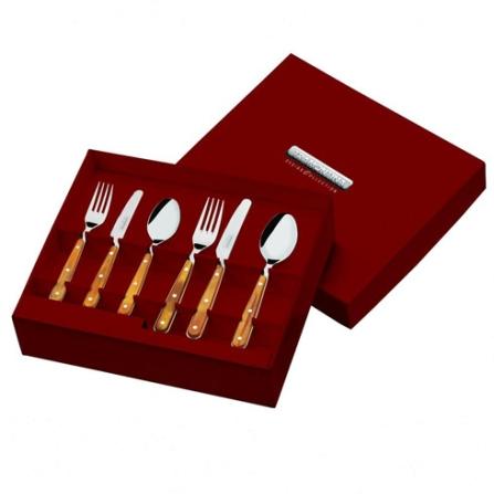 Conjunto de Talheres 36 Peças em Aço Inox e Madeira - Original Tramontina - 21399_418