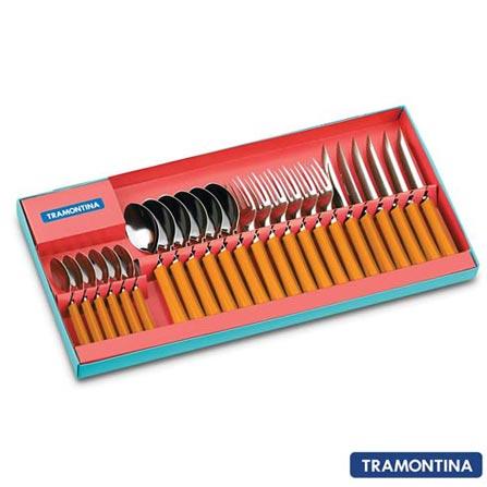 Conjunto de Talheres Itapuã com 24 Peças Laranja - Tramontina - 23199430