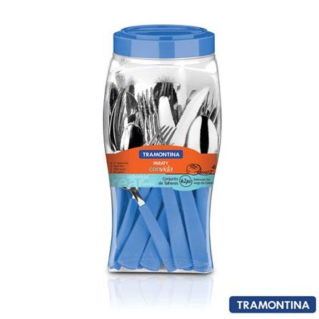 Conjunto de Talheres Paraty com 42 Peças Azul - Tramontina - 23299114