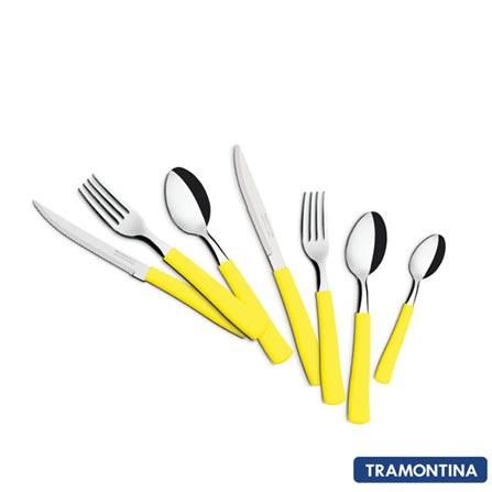 Conjunto de Talheres Paraty com 42 Peças Amarelo - Tramontina - 23299514
