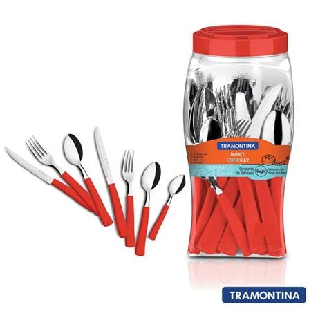 Conjunto de Talheres Paraty com 42 Peças Vermelho - Tramontina - 23299714