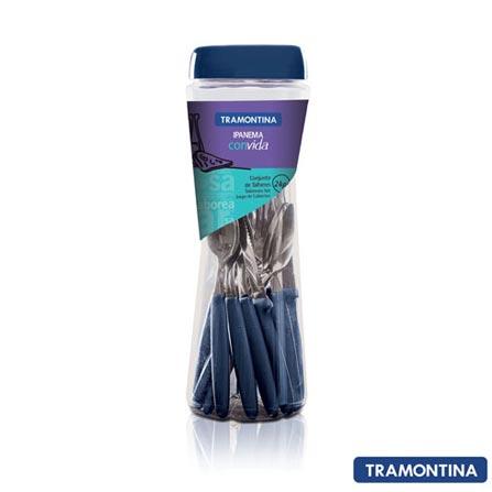 Conjunto de Talheres Ipanema com 24 Peças Azul - Tramontina - 23399191