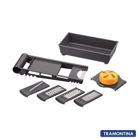 Ralador e Fatiador de Estrutura em ABS e Lâmina em aço Inox Laranja e Preto - Tramontina, ABS e aço inox, Não especificado