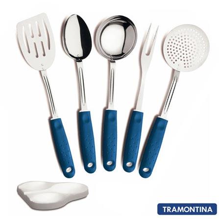 Conjunto de Utensílios Tramontina 6 Peças 25699108 Azul