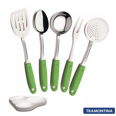Conjunto de Utensílios Tramontina 6 Peças 25699208 Verde