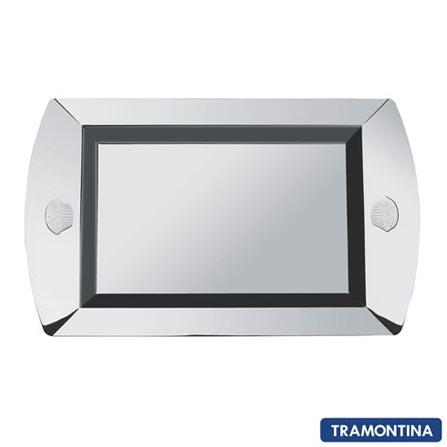 Bandeja Retangular em Aço Inox La Pasticceria Tramontina 50cm - 61695500