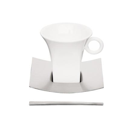 Jogo para Café com 18 Peças em Porcelana e Aço Inox - Germany Tramontina - 64380_350
