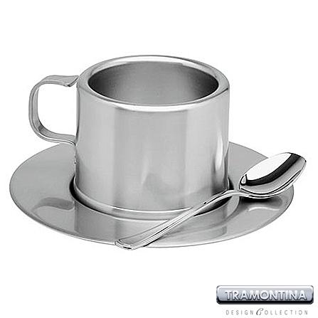 Jogo para Chá com 18 Peças em Aço Inox - Linha Tramontina Design Collection Modelo Lady - 64470_910
