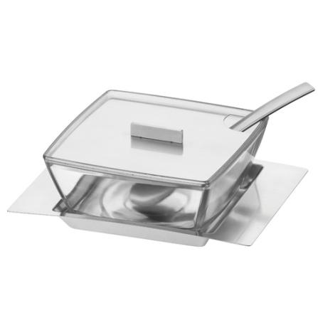 Queijeira em Vidro e Aço Inox - Namoa Tramontina - 64500_100