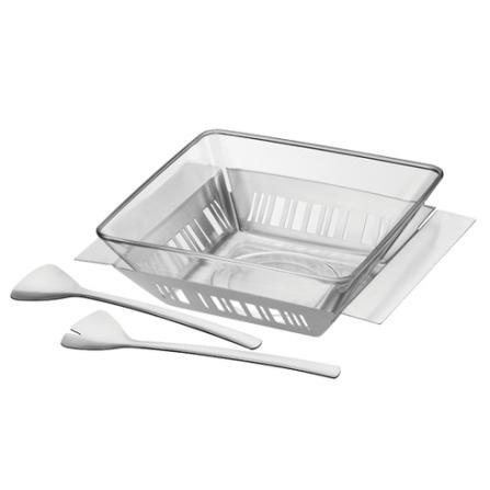 Jogo para Saladas com 4 Peças em Vidro e Aço Inox - Namoa Tramontina - 64500_110