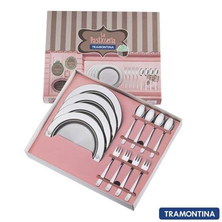 Kit para Sobremesa 12 pçs La Pasticceria Tramontina Detalhes em Alto Relevo- 64690060