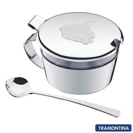 Recipiente Multiuso 3 pçs La Pasticceria Tramontina em Aço Inox e Acrílico - 64690500