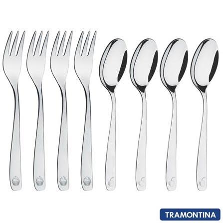 Jogo de Talheres para Sobremesa La Pasticceria Tramontina em Aço Inox - 66958670