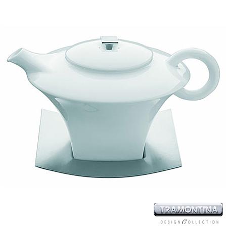 Bule para Chá de Porcelana com Base em Inox - Tramontina Design Collection - 70189_000