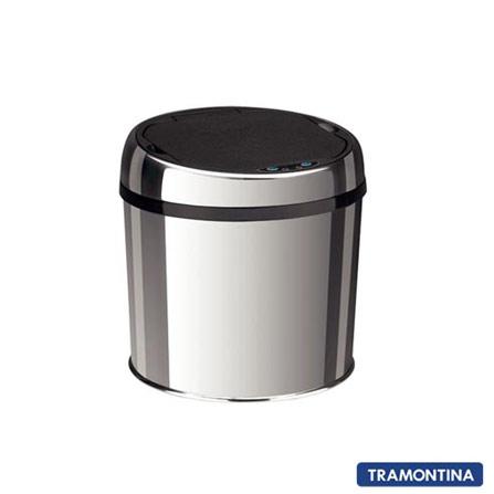 Lixeira Tramontina Easy Automática em Inox com 6 Litros de Capacidade - 94543_006, Inox, 12 meses