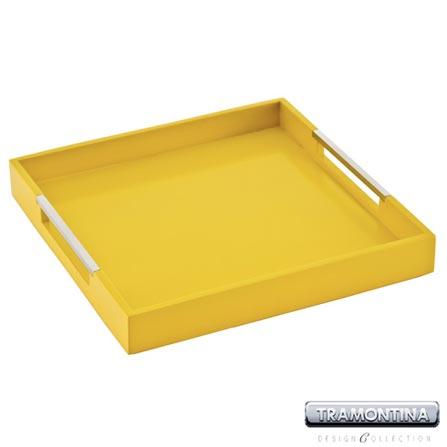 Bandeja Quadrada Amarela para Servir - Tramontina Design Collection 10363366