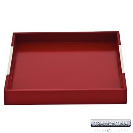 Bandeja Quadrada Vermelha para Servir - Tramontina Design Collection 10363367