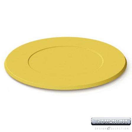 Sousplat Redondo 350mm Amarelo - Tramontina Design Collection - 13014606