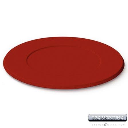 Sousplat Redondo 350mm Vermelho - Tramontina Design Collection - 13014607