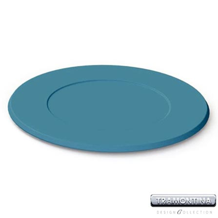 Sousplat Redondo 350mm Azul Turquesa - Tramontina Design Collection - 13014610