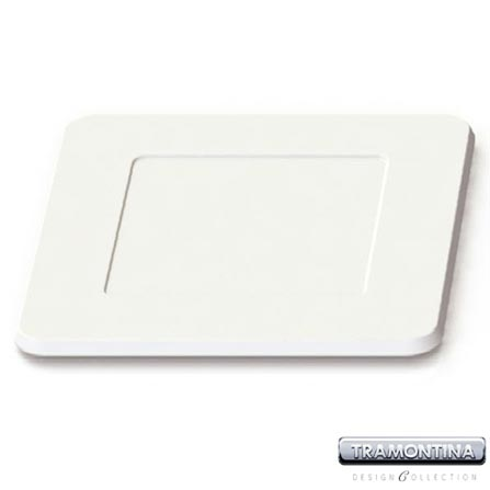 Sousplat Quadrado 350x350mm Branco - Tramontina Design Collection - 13015605