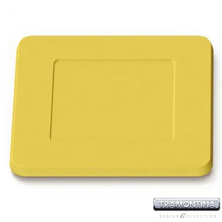 Sousplat Quadrado 350x350mm Amarelo - Tramontina Design Collection - 13015606