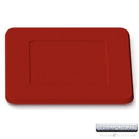 Sousplat Quadrado 350x350mm Vermelha - Tramontina Design Collection - 13015607