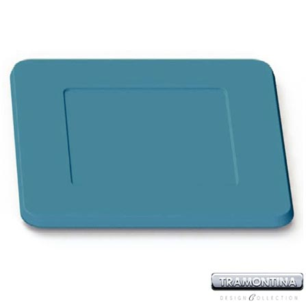 Sousplat Quadrado 350x350mm Azul Turquesa - Tramontina Design Collection - 130145610