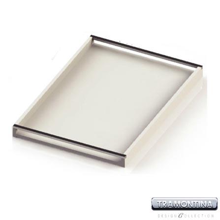 Bandeja Quadrada Branca 400 x 400 mm com espelho - Tramontina Design Collection 13024605