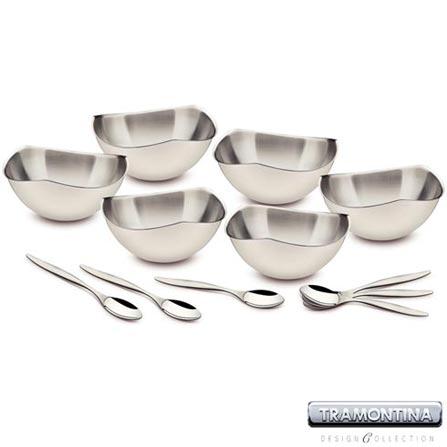 Jogo para Sobremesa 12 Peças em Aço Inox TR3.S – Tramontina Design Collection - 64590000