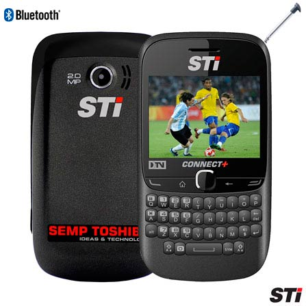 Celular STI CTV 46Q Preto Dual Chip com TV Digital