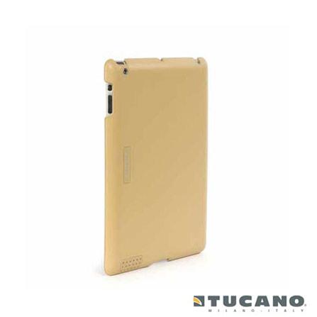 Capa para iPad 2 de Couro Bege Tucano, Bege