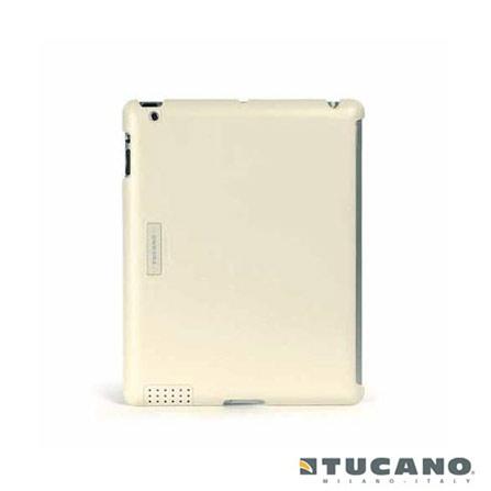 Capa Traseira Tucano para iPad 2 de Couro Creme, Branco e Bege