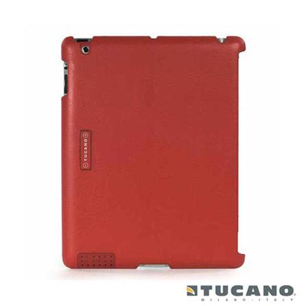 Capa para iPad 2 Traseira de Couro Tucano, Vermelho