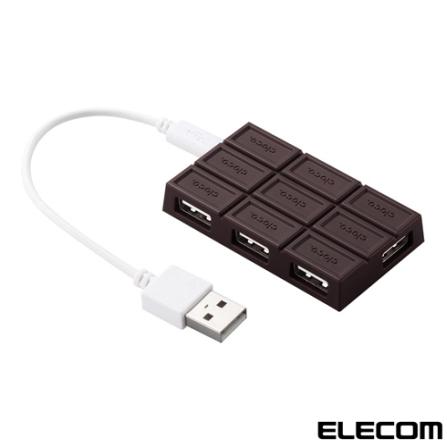 HUB USB Chocolate U2H-CH4BBR Marrom