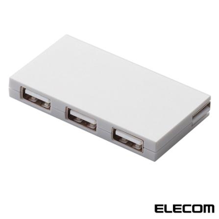 USB HUB com 4 Portas Elecom U2H-CK4B Branco