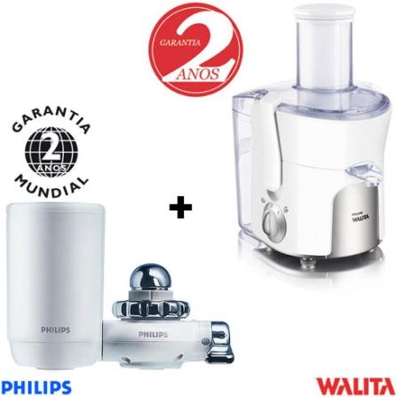 Centrífuga 550W Branca 110V - Walita + Filtro de Água Portátil - Philips - CJ1854P3811