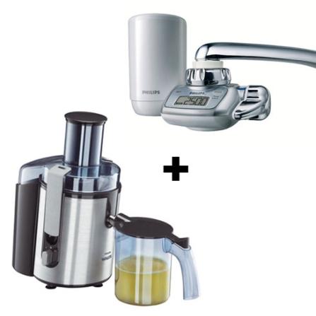 (Ver separados) Centrífuga 700W / Prata / 110V - Aluminium Walita + Filtro de Água com Visor LCD / Filtro Micro Pure / F