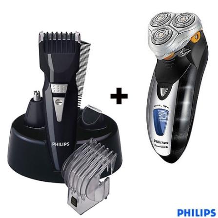 (Ver separados) Barbeador SmartTouch-XL + Kit Aparador de Pêlos 6 em 1 - Philips - CJ9190G3060