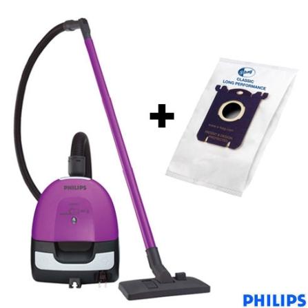 Aspirador de Pó Portátil Electric Sweeper Purpura + Saco coletor para aspiradores de pó Philips - CJFC82088020