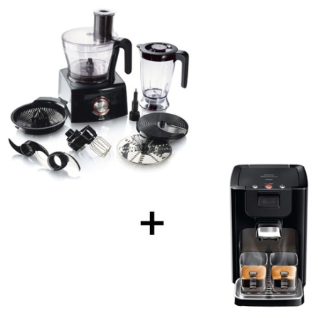 Multiprocessador Kitchen Machine+Cafeteira Senseo, 110V