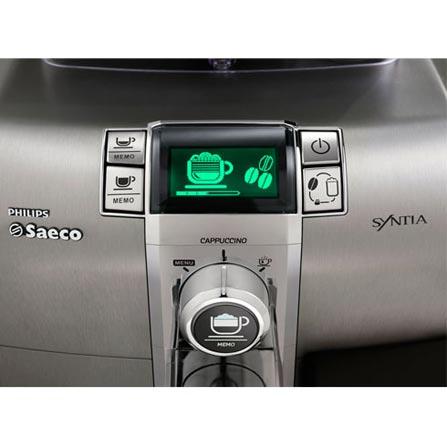 Máquina de Café Espresso Automática Synthia Cappuccinatore  com 15 Bars de Pressão, Cor Inox - Philips - HD8838, 110V, 220V