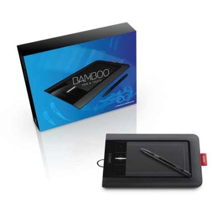 Mesa Digitalizadora Bamboo Preto para desktop ou laptop, PC ou Mac - Wacom - CTL460L