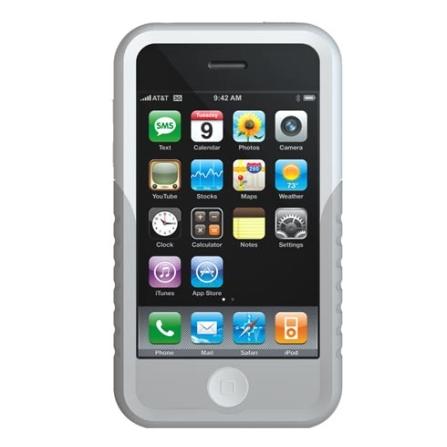 Capa Silicone Branca e Cinza para iPhone 3° Geração - Xtreme - IPPTW300
